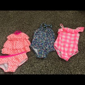 Swimsuits Toddler Girl Lot 18-24mos